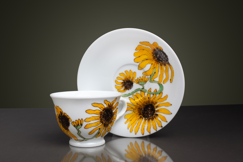 les fleurs du bien daisies porphyras studio de design si pictura pe portelan. Black Bedroom Furniture Sets. Home Design Ideas